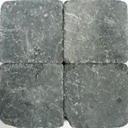 Klinkers getrommeld 20x20 grijszwart (pallet 12,8m²)