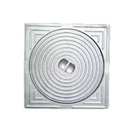 Deksel aluminium 15x15 - diam.110