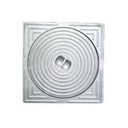 Deksel (gesloten) aluminium 15x15 - voor buis diam.125