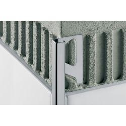 Schluter QUADEC-A/EV buiten-/binnenhoek 90° 10mm alu mat