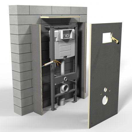 Bouwplaat - tegelelement voor hangtoilet